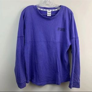 Victorias Secret PINK Campus Tee Purple Top